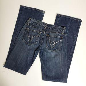 Bebe distressed embellished jeans size 26